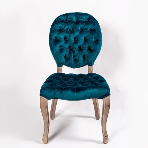 Dark Blue Velvet Dining Chair