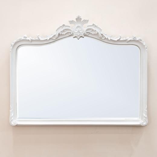 Patrica White Overmantle Mirror